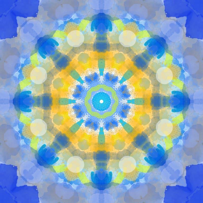 Πολύχρωμος mandala κύκλος σχεδίων ύφους γεωμετρικός γύρω από την τέχνη προτύπων στοιχείων σχεδίου γραφική για τον Ιστό και το καλ διανυσματική απεικόνιση