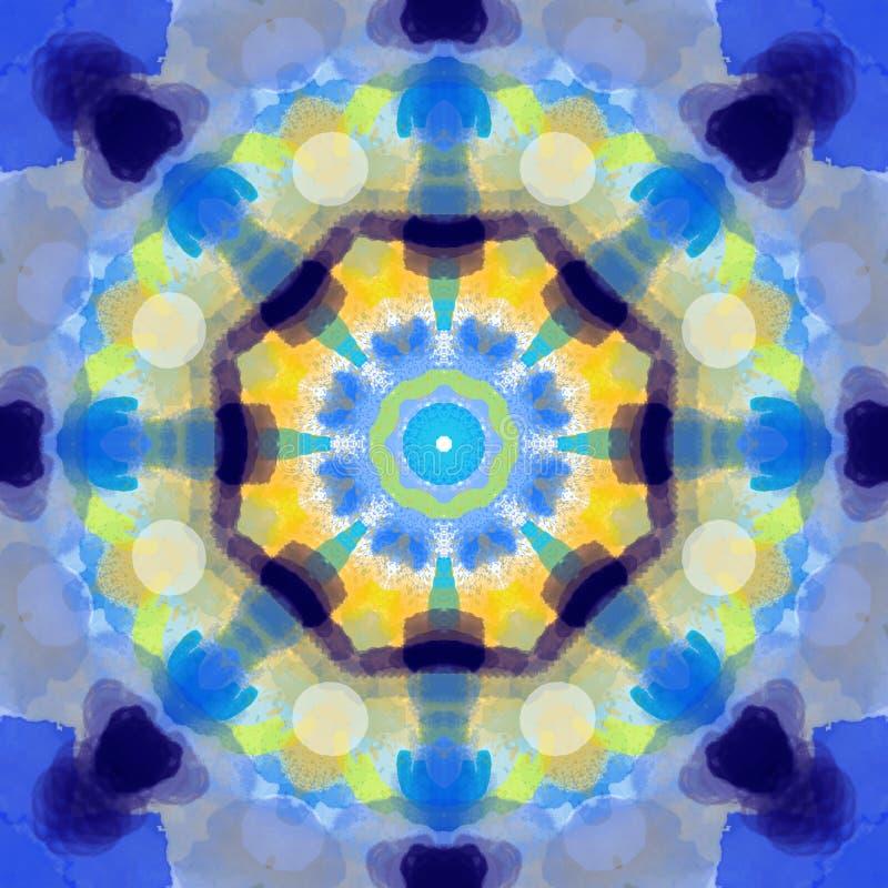 Πολύχρωμος mandala κύκλος σχεδίων ύφους γεωμετρικός γύρω από την τέχνη προτύπων στοιχείων σχεδίου γραφική για τον Ιστό και το καλ ελεύθερη απεικόνιση δικαιώματος