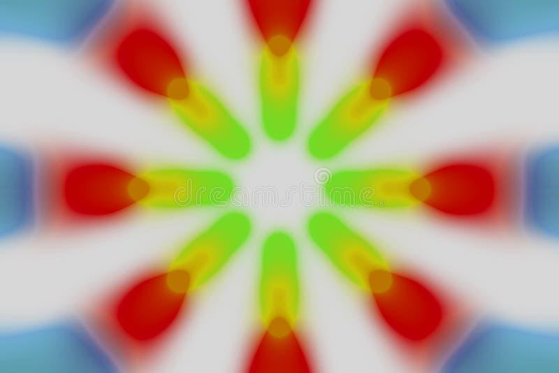 Πολύχρωμο ακτινωτό ελαφρύ σχέδιο κύκλων διανυσματική απεικόνιση