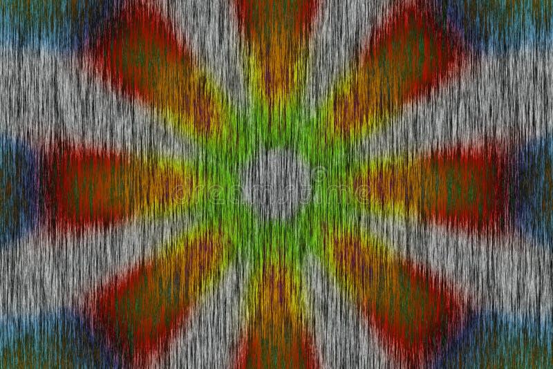 Πολύχρωμο ακτινωτό σκοτεινό σχέδιο κύκλων με την ξύλινη επίδραση απεικόνιση αποθεμάτων