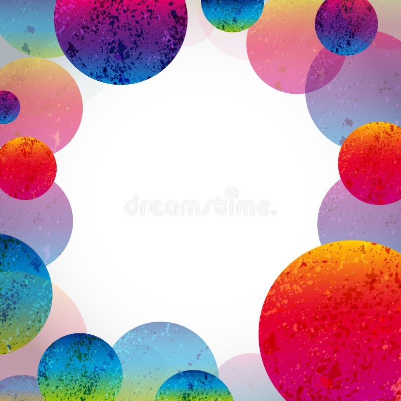 Πολύχρωμο αφηρημένο φωτεινό υπόβαθρο Στοιχεία κύκλων για το σχέδιο ελεύθερη απεικόνιση δικαιώματος