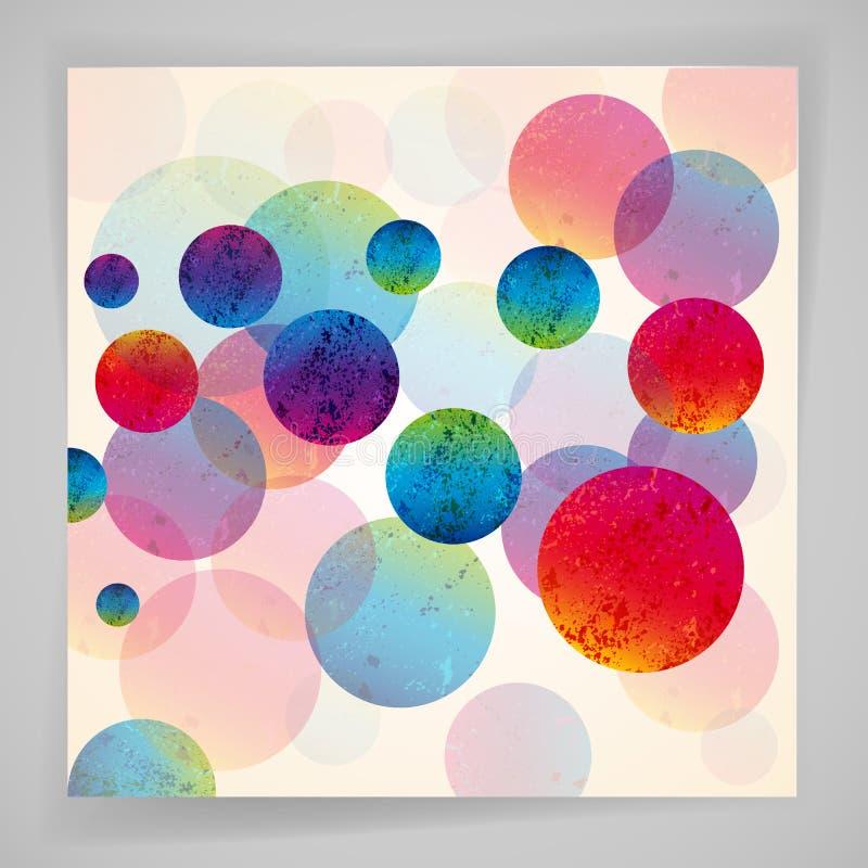 Πολύχρωμο αφηρημένο φωτεινό υπόβαθρο Στοιχεία κύκλων για το σχέδιο διανυσματική απεικόνιση