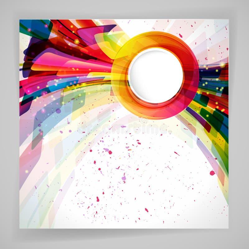 Πολύχρωμο αφηρημένο φωτεινό υπόβαθρο o απεικόνιση αποθεμάτων