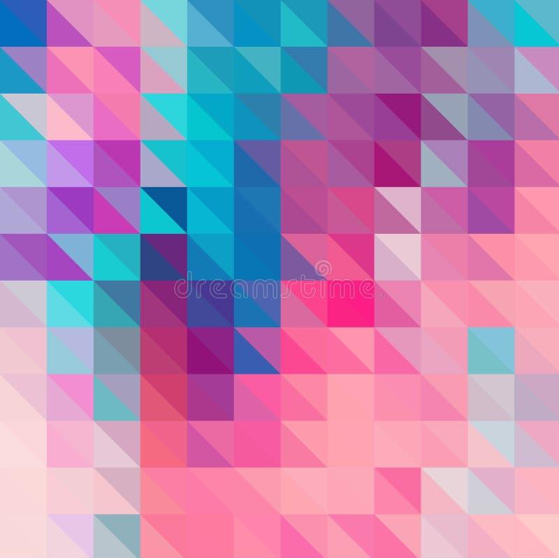 Πολύχρωμο γεωμετρικό τριγωνικό χαμηλό πολυ ύφος Υπόβαθρο κλίσης απεικόνιση αποθεμάτων