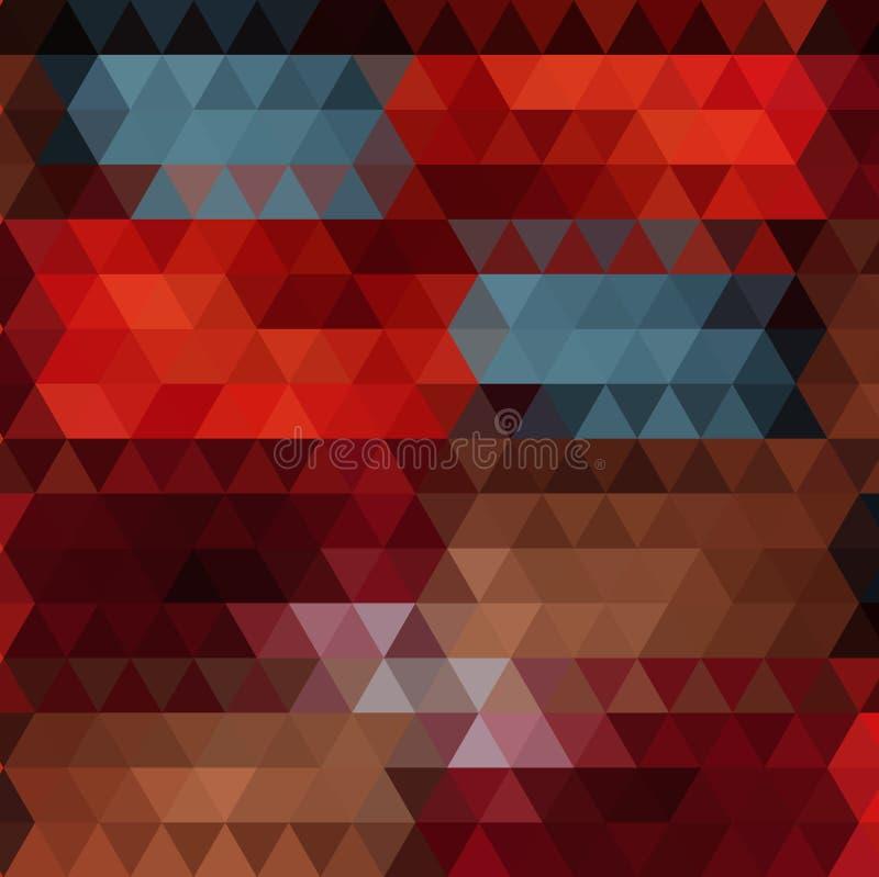 Πολύχρωμο γεωμετρικό τριγωνικό χαμηλό πολυ ύφος Υπόβαθρο κλίσης ελεύθερη απεικόνιση δικαιώματος