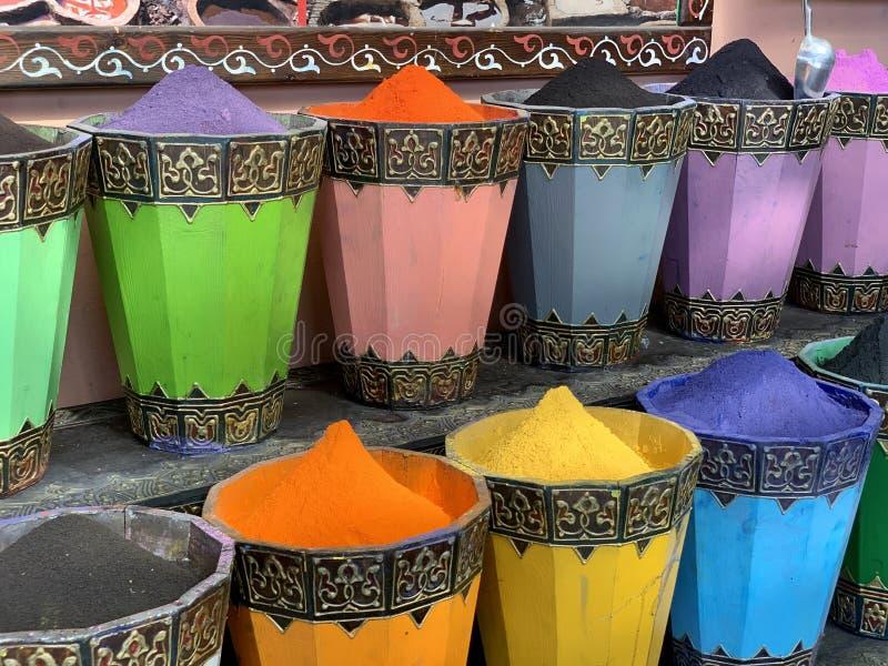 Πολύχρωμο Μαρακές, Μαρόκο στοκ εικόνες