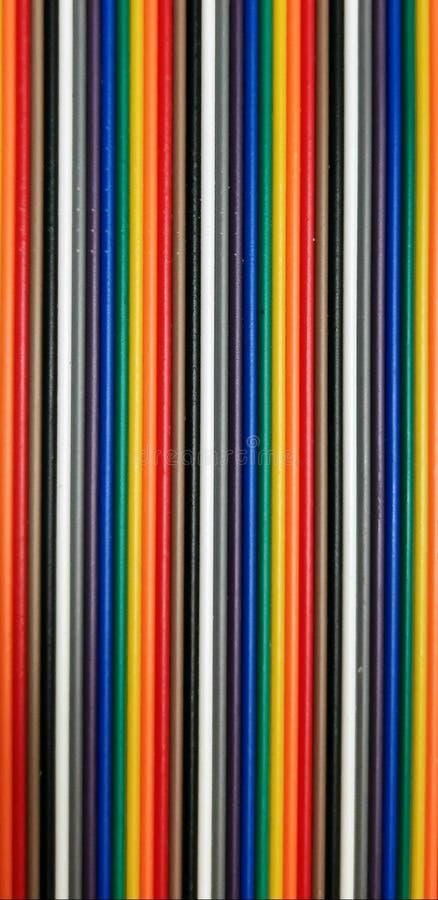 Πολύχρωμο μοτίβο καλωδίων στοκ εικόνα με δικαίωμα ελεύθερης χρήσης