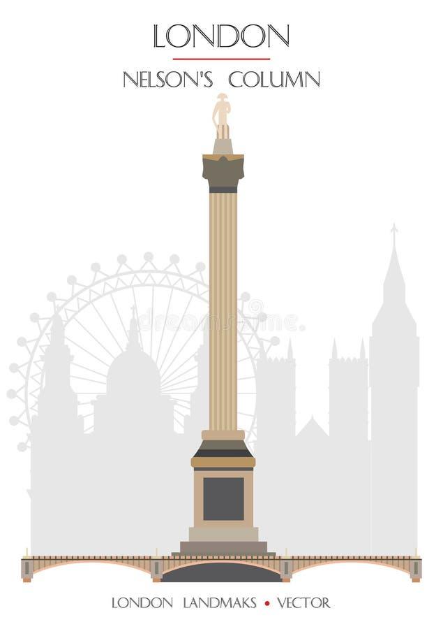 Πολύχρωμο ορόσημο Λονδίνο 9 ελεύθερη απεικόνιση δικαιώματος