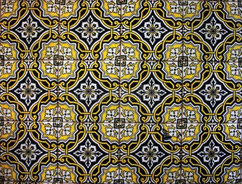 Πολύχρωμο πορτογαλικό κεραμίδι στοκ εικόνες