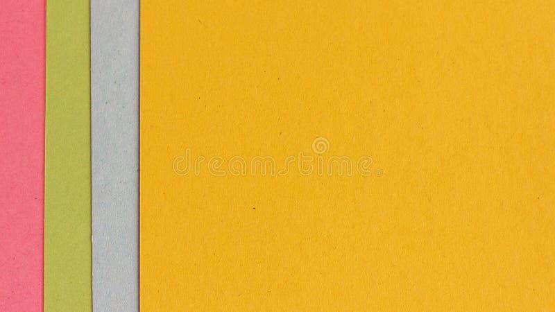 Πολύχρωμο υπόβαθρο εγγράφου Χαρτοκιβώτια των διαφορετικών χρωμάτων στοκ εικόνες με δικαίωμα ελεύθερης χρήσης