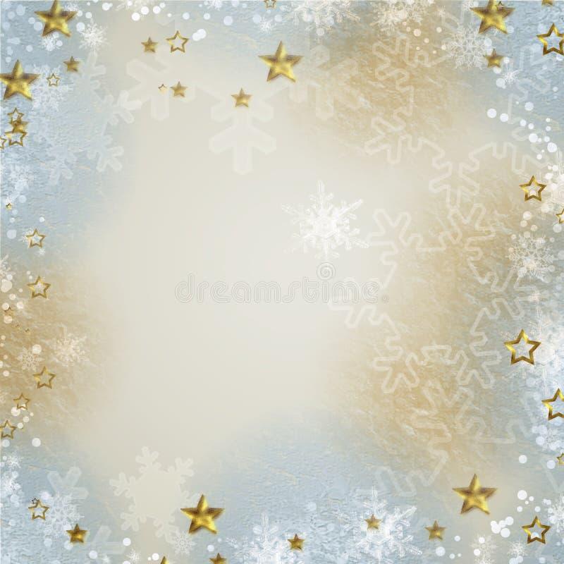 Πολύχρωμο φόντο με το snowfla απεικόνιση αποθεμάτων