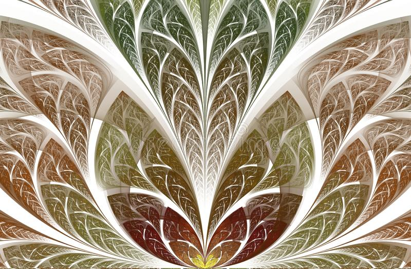 Πολύχρωμο όμορφο φύλλωμα δέντρων computer generated graphics απεικόνιση αποθεμάτων