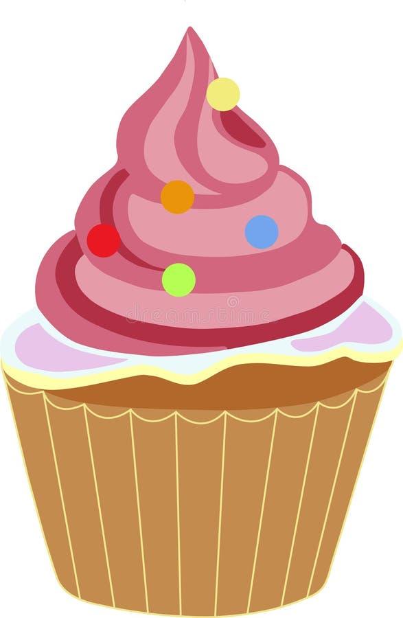 Πολύχρωμο Cupcake αυξήθηκε απεικόνιση αποθεμάτων