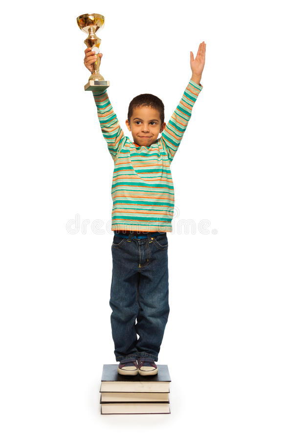 Πολύ έξυπνο μαύρο αγόρι στοκ φωτογραφία με δικαίωμα ελεύθερης χρήσης