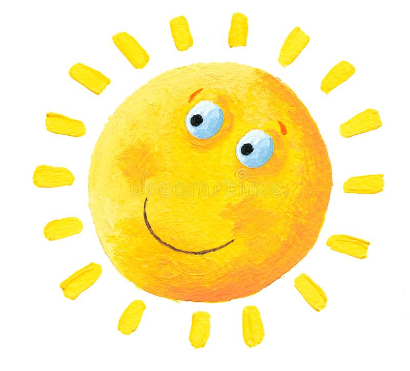 Πολύ ευτυχής ήλιος ελεύθερη απεικόνιση δικαιώματος