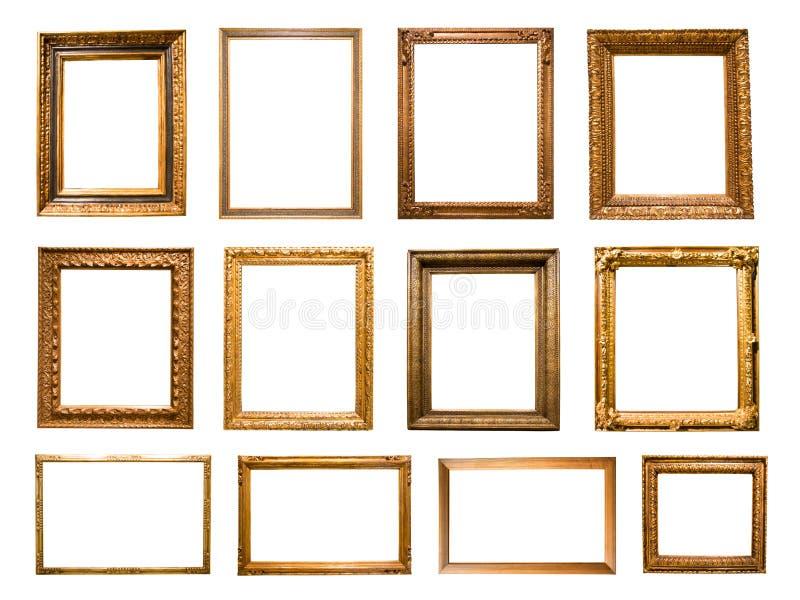 Πολύ ορθογώνιο χρυσό πλαίσιο για τη φωτογραφία στοκ φωτογραφία