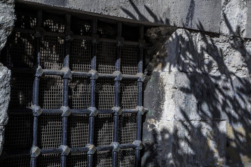 Πολύ παλαιοί φραγμοί στα παλαιά παράθυρα στοκ φωτογραφίες με δικαίωμα ελεύθερης χρήσης
