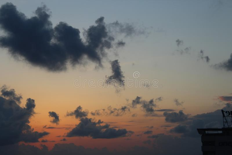 πολύ συμπαθητικές ηλιοβασίλεμα και πολύ ηρεμία στοκ φωτογραφίες