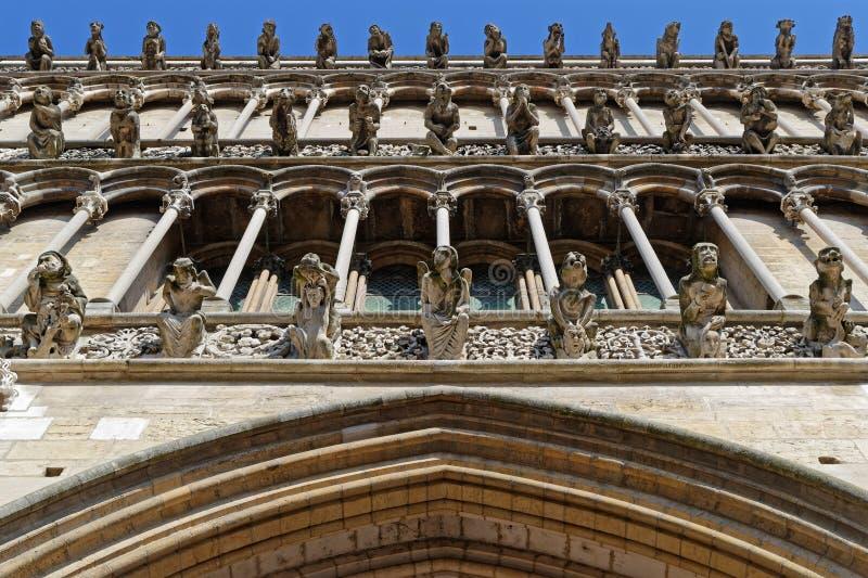 Πολύ Gargoyles στη Notre-Dame στοκ φωτογραφία