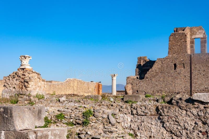 Πομπηία, η καλύτερα συντηρημένη αρχαιολογική περιοχή στον κόσμο, Ιταλία στοκ εικόνα