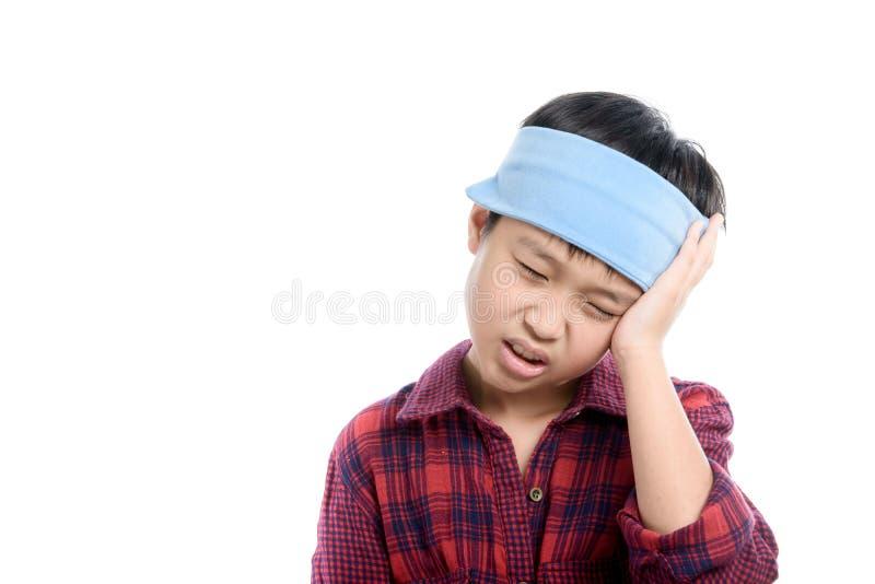 Πονοκέφαλος αγοριών στοκ φωτογραφία