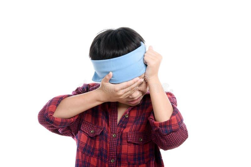 Πονοκέφαλος αγοριών στοκ φωτογραφίες με δικαίωμα ελεύθερης χρήσης
