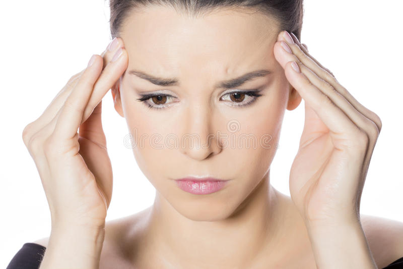 Πονοκέφαλος γυναικών στοκ φωτογραφία