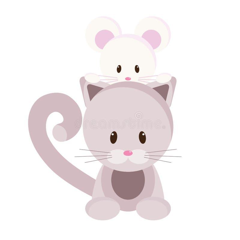 Download ποντίκι γατακιών διανυσματική απεικόνιση. εικονογραφία από γούνα - 22785984