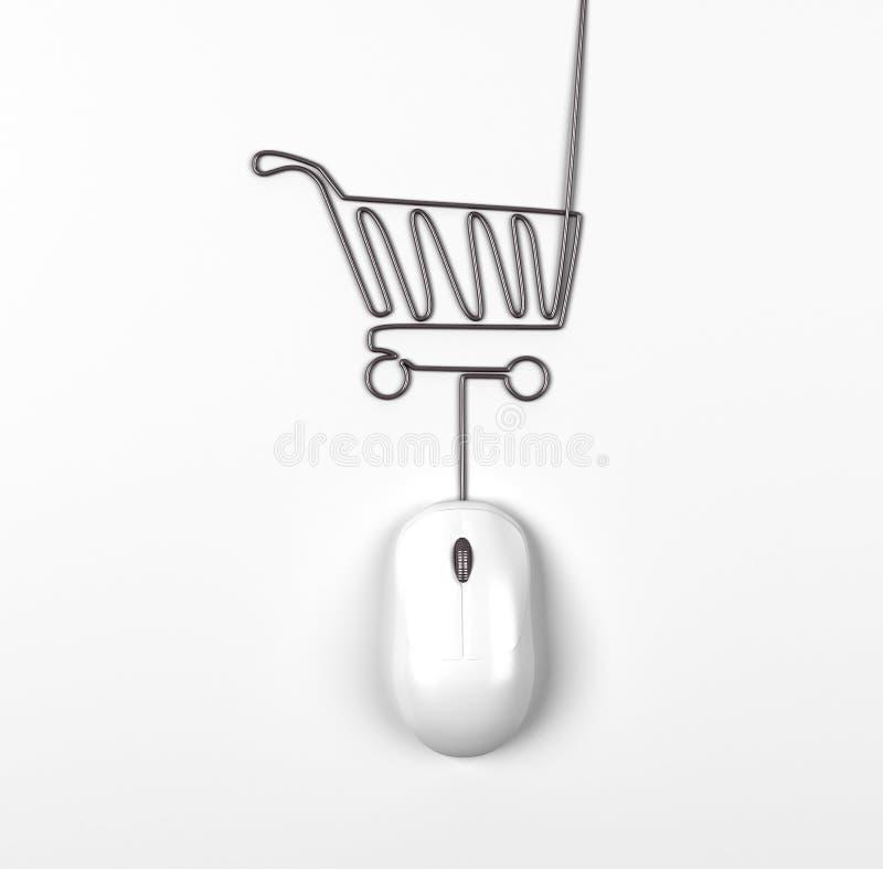 Ποντίκι και καροτσάκι απεικόνιση αποθεμάτων