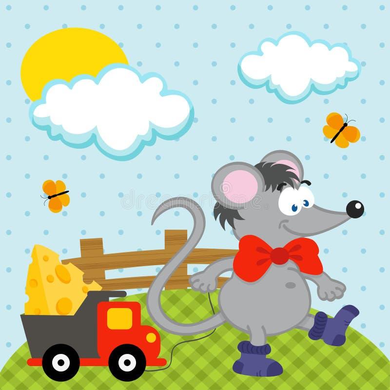 Ποντίκι με το διάνυσμα παιχνιδιών διανυσματική απεικόνιση