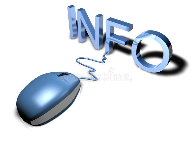 ποντίκι πληροφοριών απεικόνιση αποθεμάτων