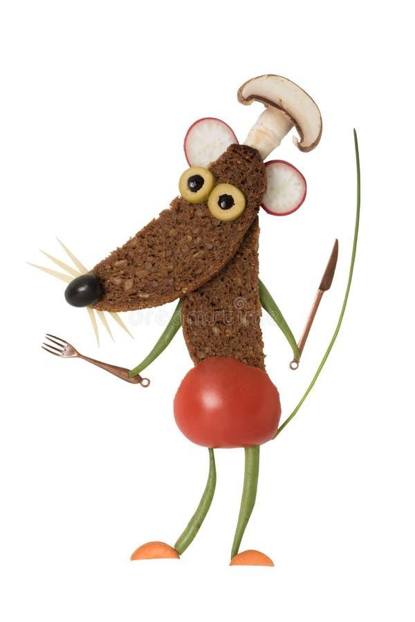 Ποντίκι σάντουιτς που γίνεται ως μάγειρας στοκ φωτογραφίες με δικαίωμα ελεύθερης χρήσης