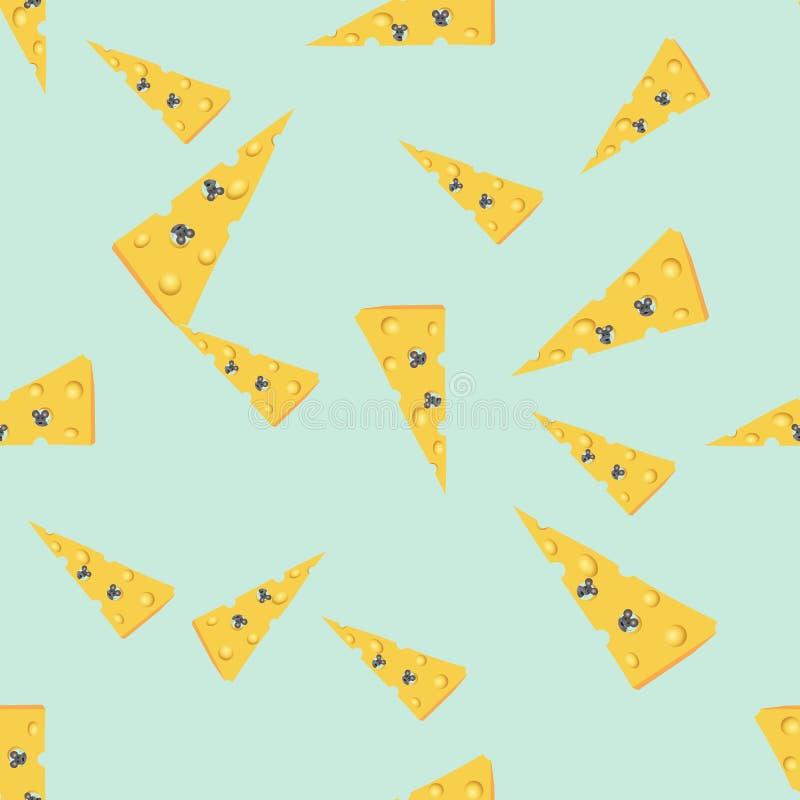 Ποντίκι σε cheese2 ελεύθερη απεικόνιση δικαιώματος