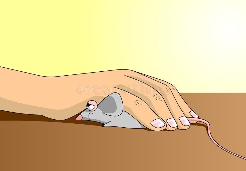 ποντίκι χεριών ελεύθερη απεικόνιση δικαιώματος