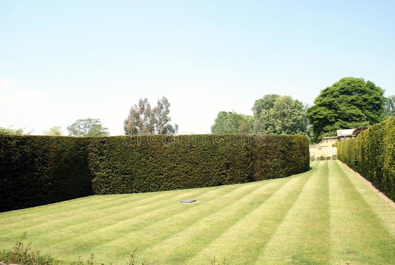 Πορεία και φράκτες του κήπου κάστρων Hever στην Αγγλία στοκ φωτογραφία
