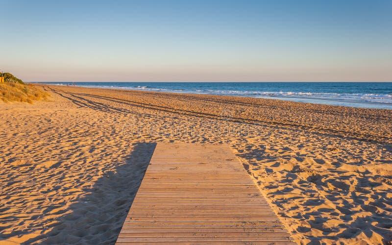 Πορεία στην παραλία στοκ εικόνες