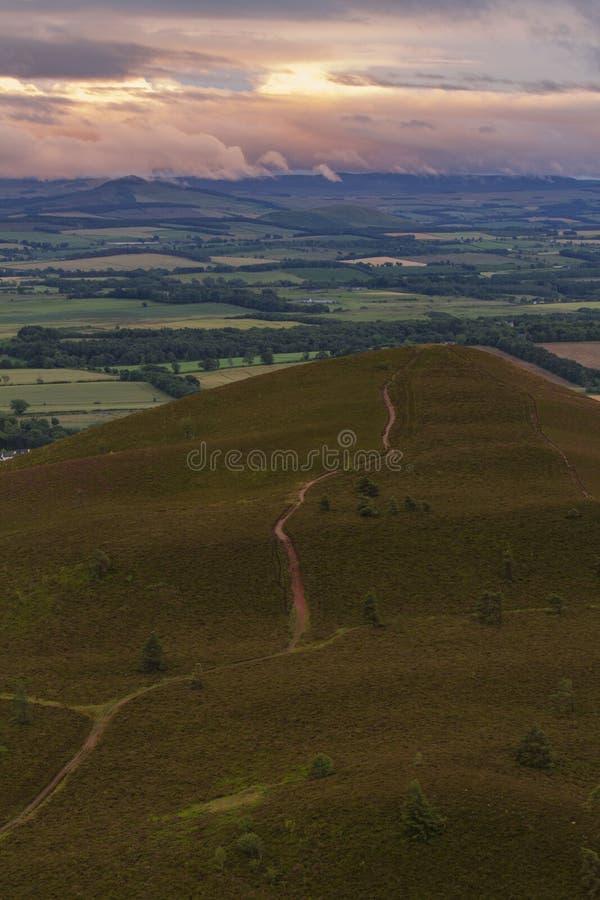 Πορεία στο λόφο στα σκωτσέζικα σύνορα στοκ φωτογραφίες