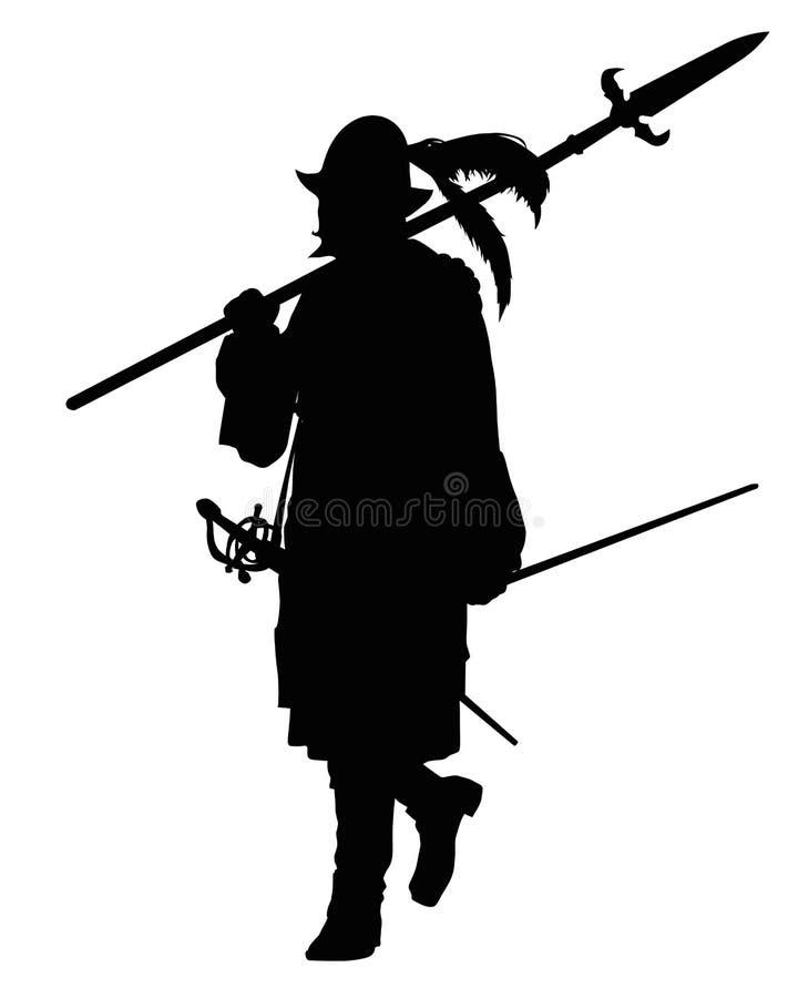 Πορεία Conquistador Θέμα πολεμιστών διανυσματική απεικόνιση