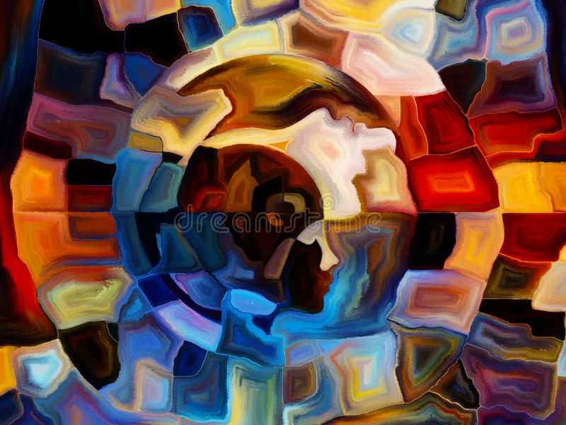 Πορείες του εσωτερικού χρώματος διανυσματική απεικόνιση