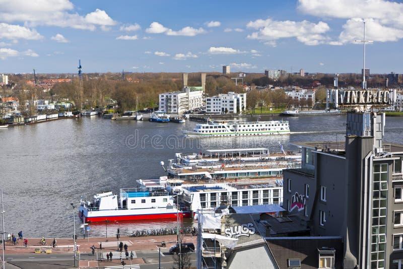 Πορθμείο ποταμών IJ Άμστερνταμ στοκ φωτογραφίες
