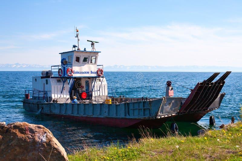 Πορθμείο στη λίμνη Baikal στοκ εικόνα με δικαίωμα ελεύθερης χρήσης