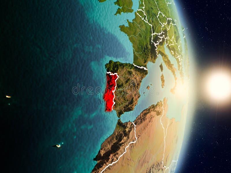 Πορτογαλία κατά τη διάρκεια της ανατολής απεικόνιση αποθεμάτων