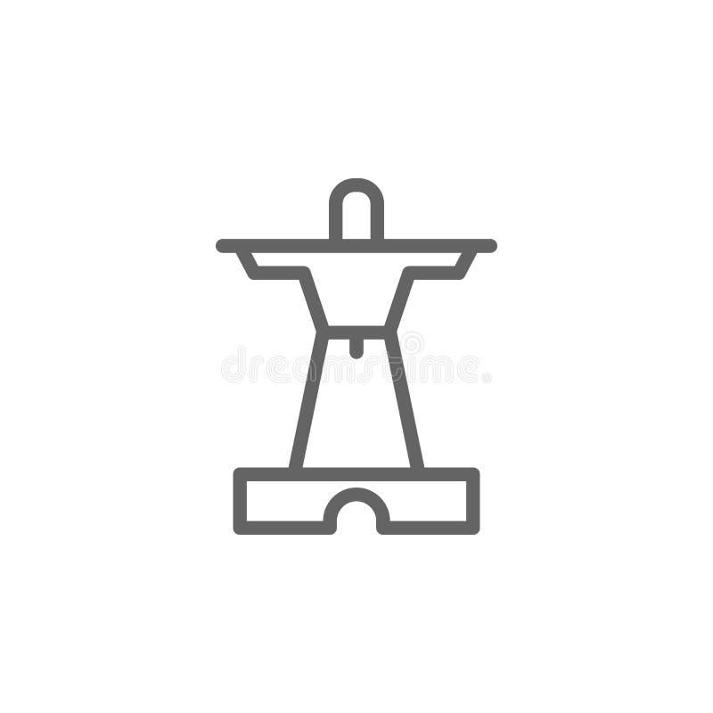 Πορτογαλία, μνημεία, εικονίδιο αγαλμάτων Στοιχείο του εικονιδίου της Πορτογαλίας r απεικόνιση αποθεμάτων