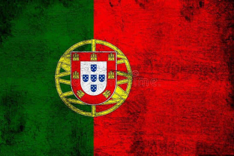 Πορτογαλία σκουριασμένη και grunge απεικόνιση σημαιών απεικόνιση αποθεμάτων