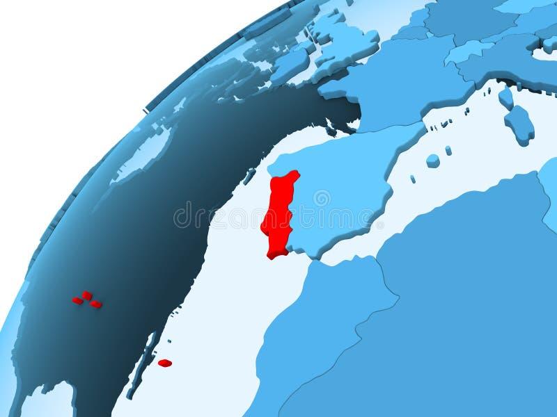 Πορτογαλία στην μπλε σφαίρα ελεύθερη απεικόνιση δικαιώματος