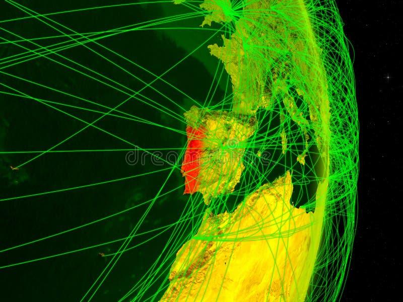 Πορτογαλία στην ψηφιακή γη ελεύθερη απεικόνιση δικαιώματος