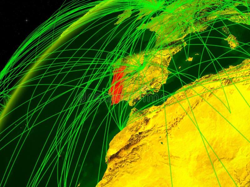 Πορτογαλία στη γη με το δίκτυο ελεύθερη απεικόνιση δικαιώματος