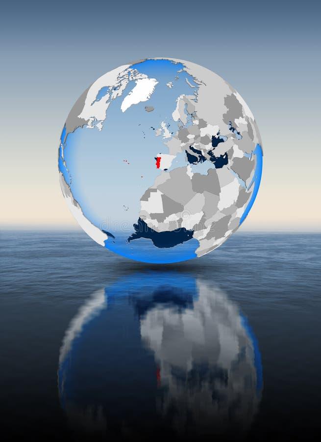 Πορτογαλία στη σφαίρα στο νερό ελεύθερη απεικόνιση δικαιώματος