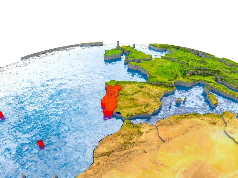 Πορτογαλία στο πρότυπο της γης απεικόνιση αποθεμάτων