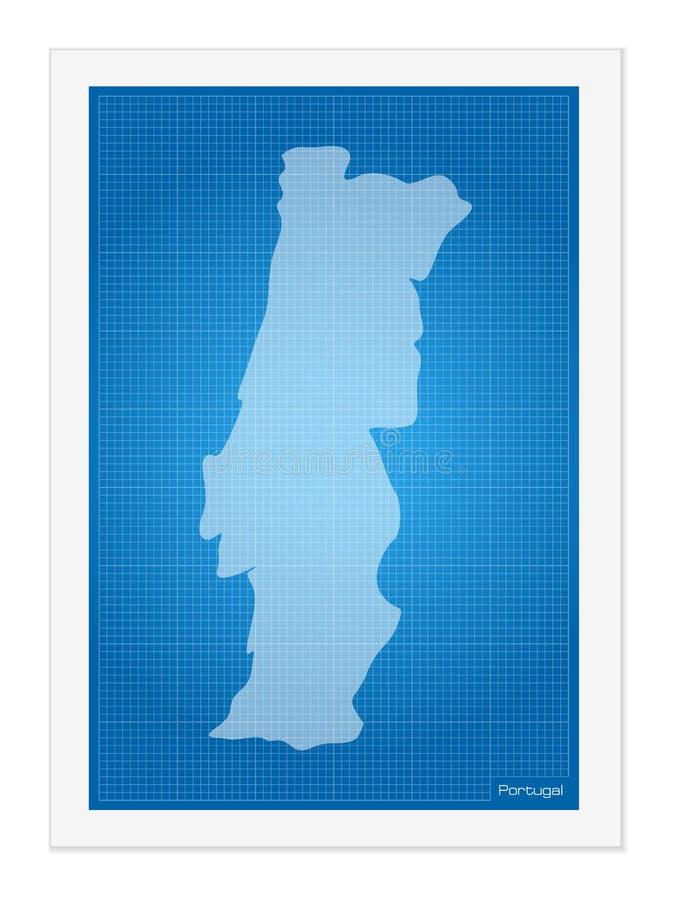 Πορτογαλία στο σχεδιάγραμμα ελεύθερη απεικόνιση δικαιώματος